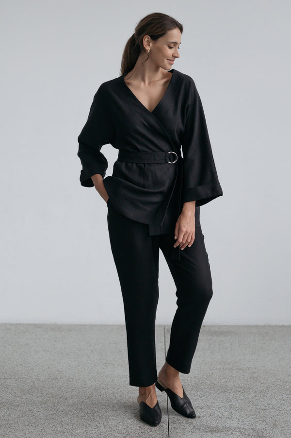 Jada Wrap Jacket - Black