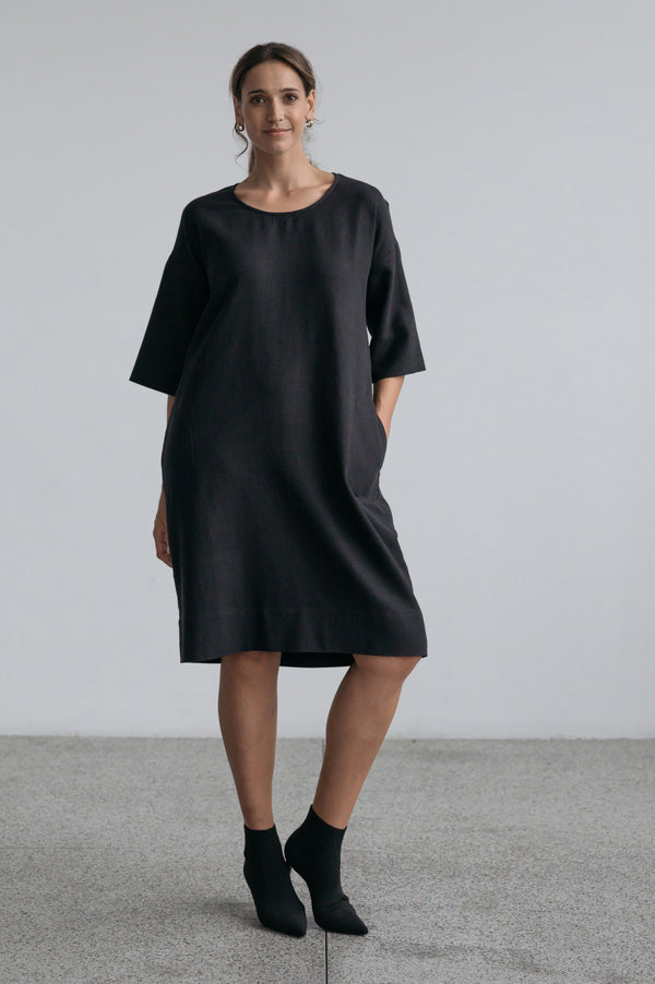 Emma Shift Dress - Black