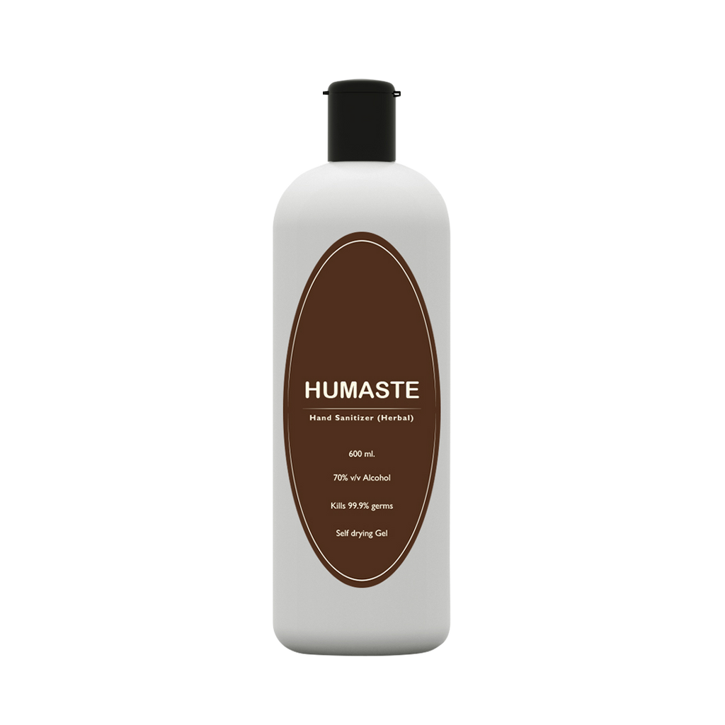 Humaste Herbal Hand Sanitizer with 70% Alcohol (600 ML) - Jagatjit Industries Limited