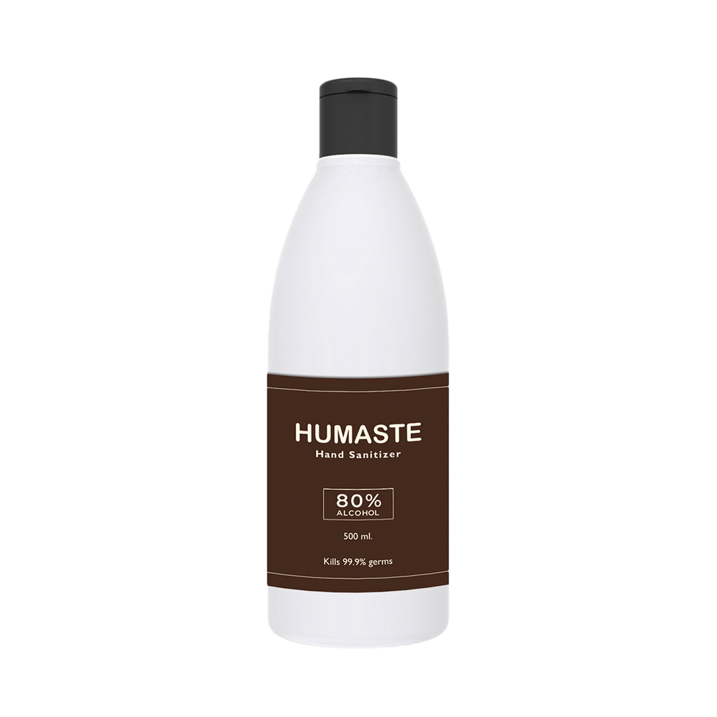 Humaste Liquid Based Herbal Hand Sanitizer with 80% Alcohol (500 ML) - Jagatjit Industries Limited