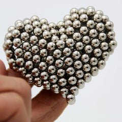 Magnetic Balls Intelligent Stress Relive Toys Silver - 216Pcs