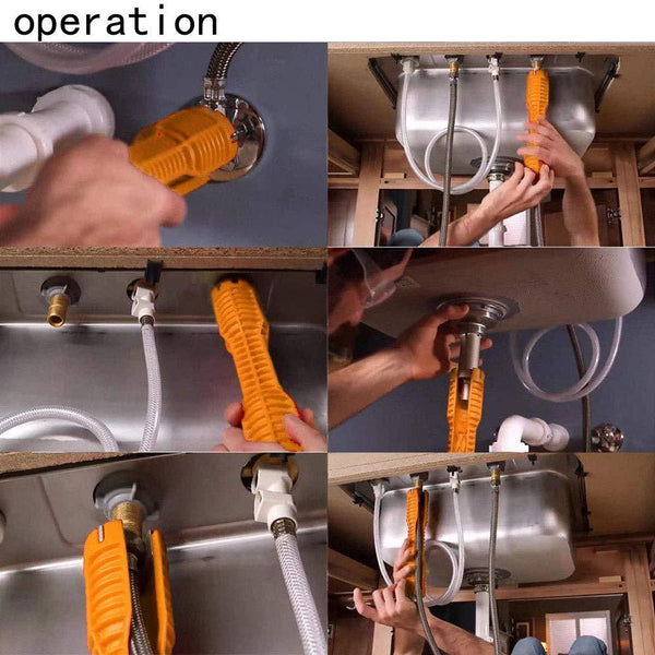 Faucet and sink installer, Multi-Purpose Wrench Plumbing Tool (8-in-1)