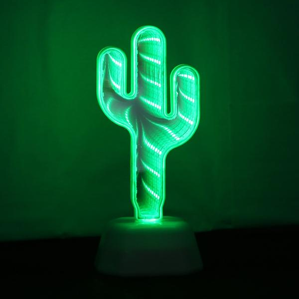 Infinite Cactus 3D Light Lamp