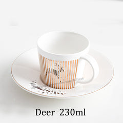 Mirror Reflection Coffee Cup & Plate