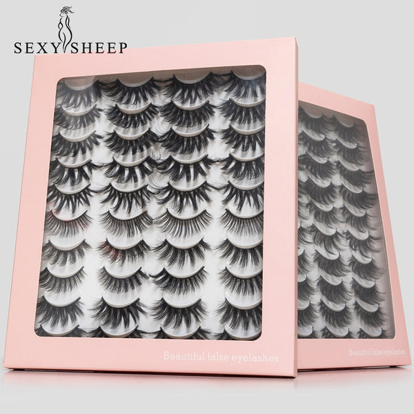 8/20 Pairs 3D Mink Lashes Natural False Eyelashes