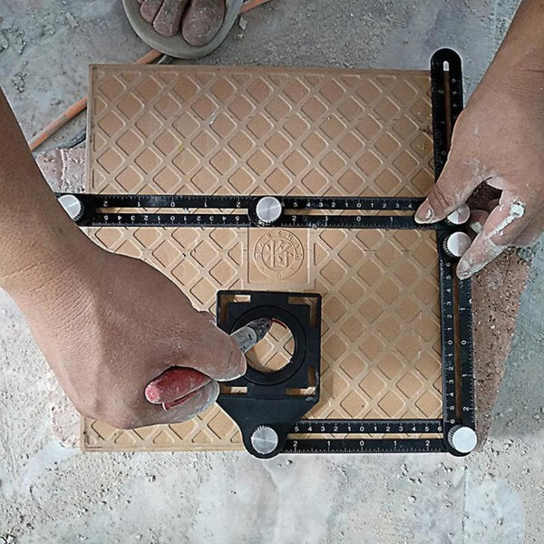 Multi Angle Measuring Tool Floor Tile Hole Locator