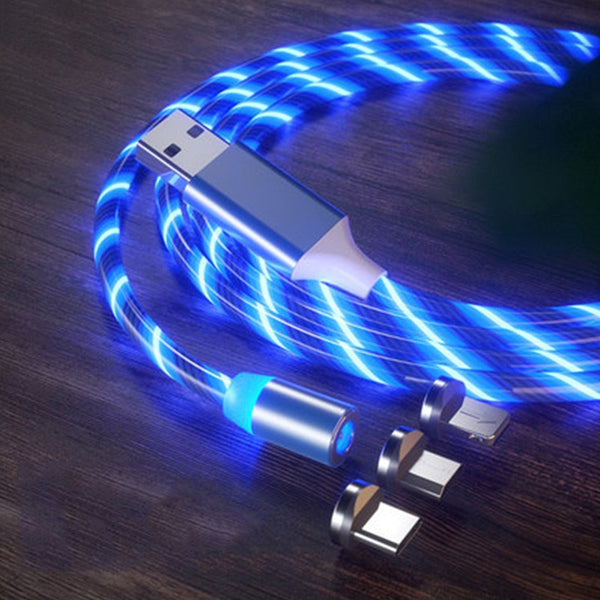 Glow LED Lighting USB Magnetic Charging Cable