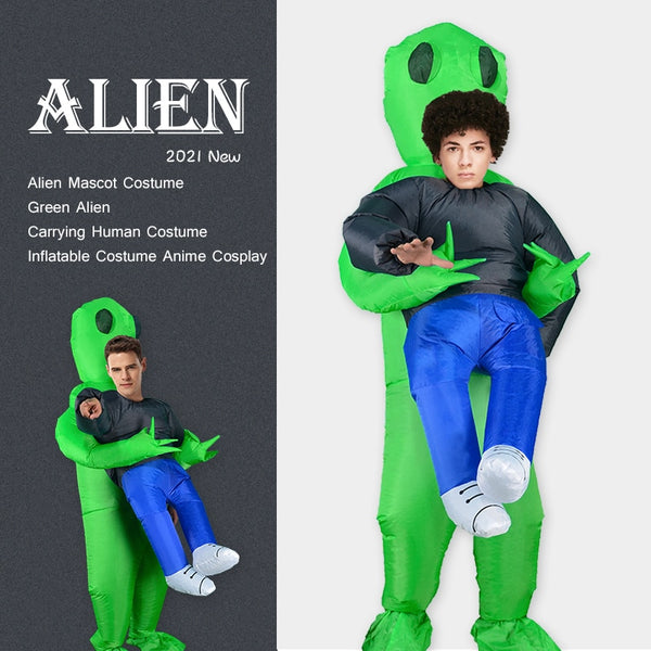 Alien Mascot Costume for Halloween, Xmas and April Fool