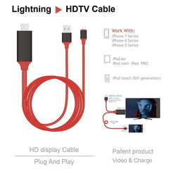 2M Phone Screen to HDMI Cable for iPhone 7 7 Plus 6s 6 Plus 5s