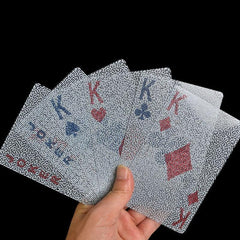 Creative Transparent Waterproof Plastic Playing Cards