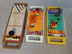Strolling Bowling + Bumbling Boxing + Funny Football Vintage Wind Up Lot