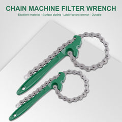"Car Truck 8"" 12"" Chain Wrench Oil Filter Wrench Remove Hand Tool Universal"