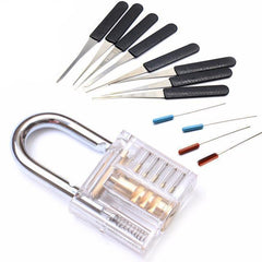 Transparent Padlock With Broken Key