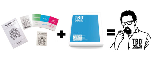 All-In-One Design Fiction Combo Pack: TBD Catalog + Design Fiction Product Design Work Kit