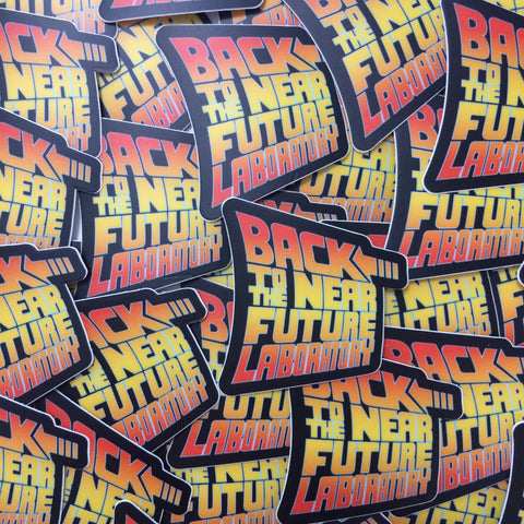 Back to the Near Future Laboratory Stickers