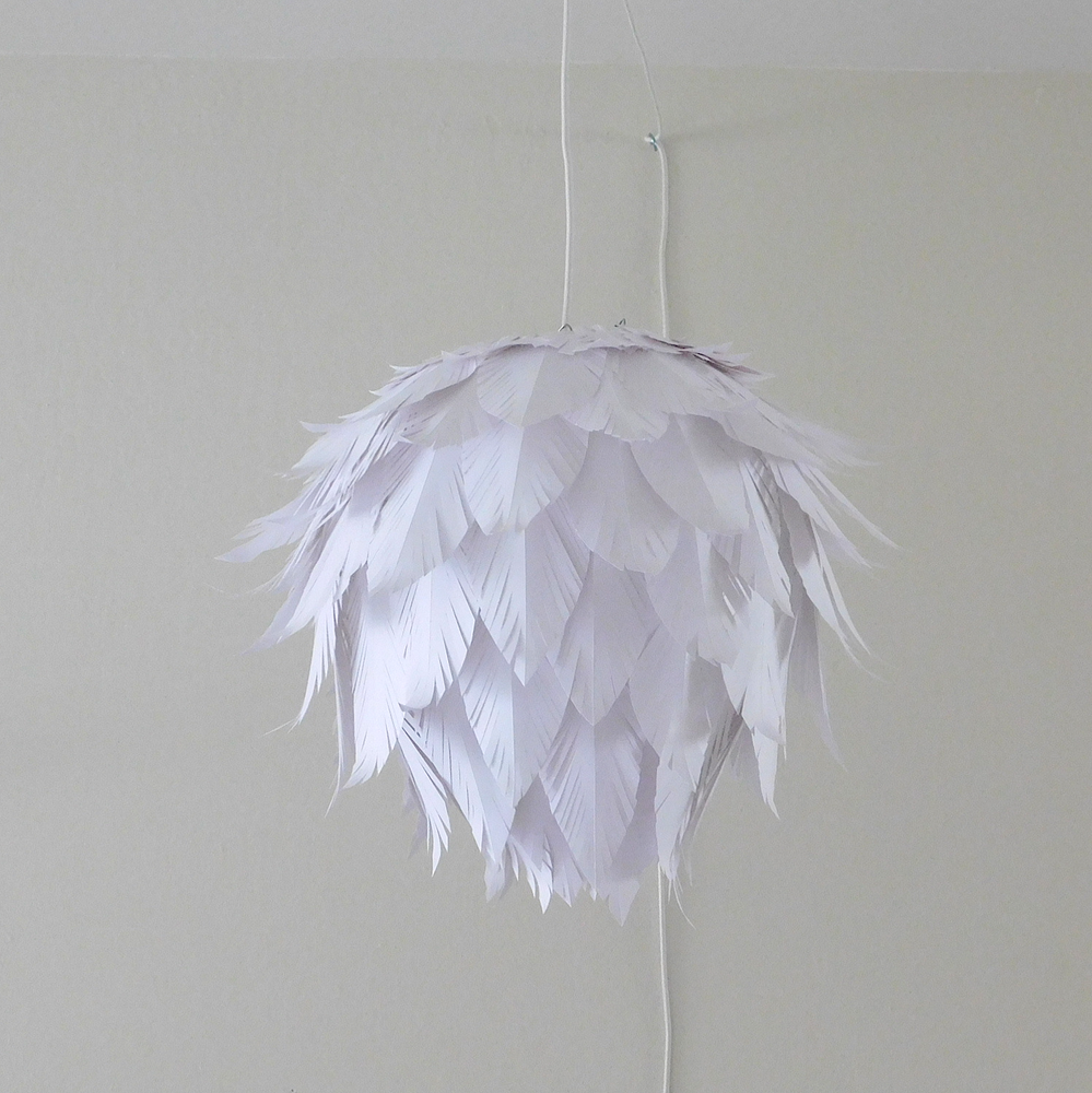 Paper Feather Pendant Lampshade