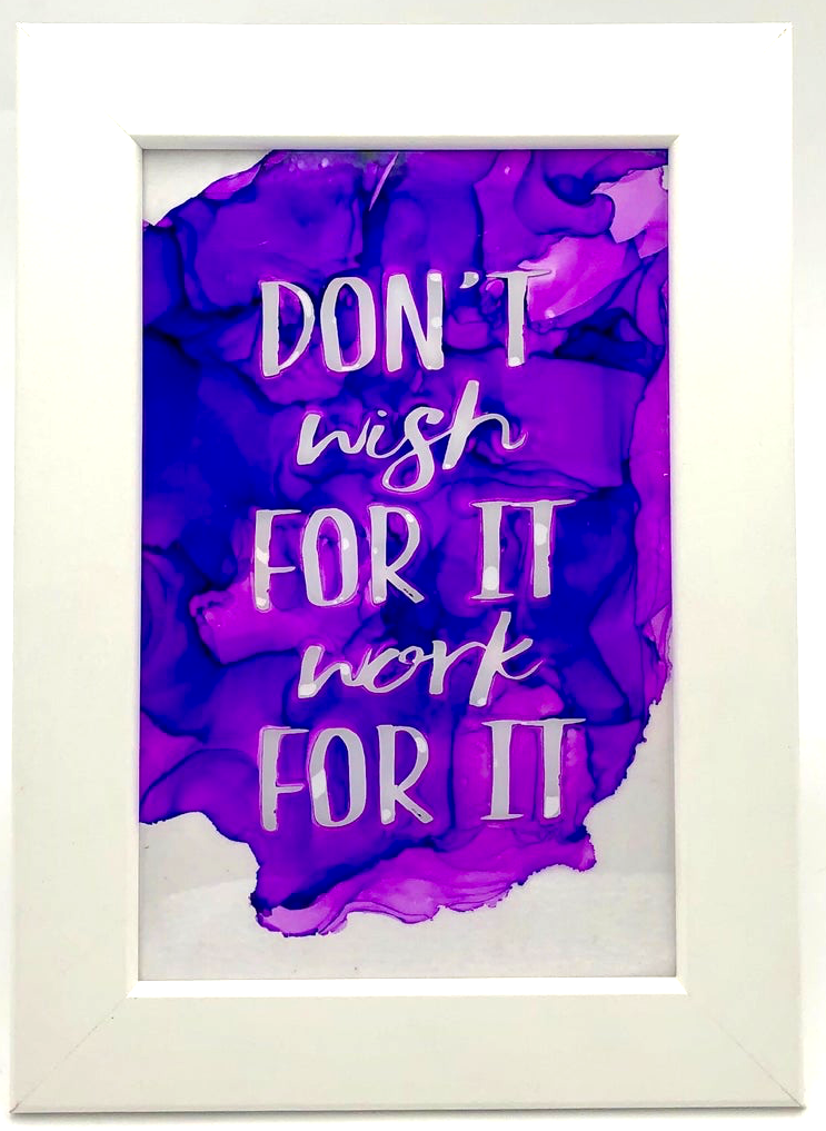 Fire Quote - Don't wish for It, Work for it