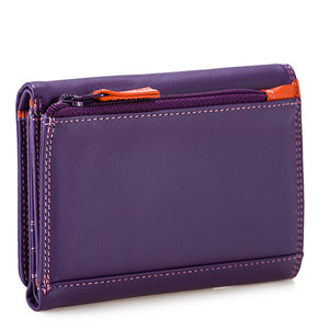 Mywalit Small Tri-fold Wallet with RFID – Purple