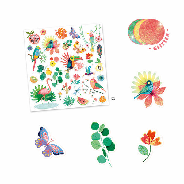 Paradise Glitter Stickers