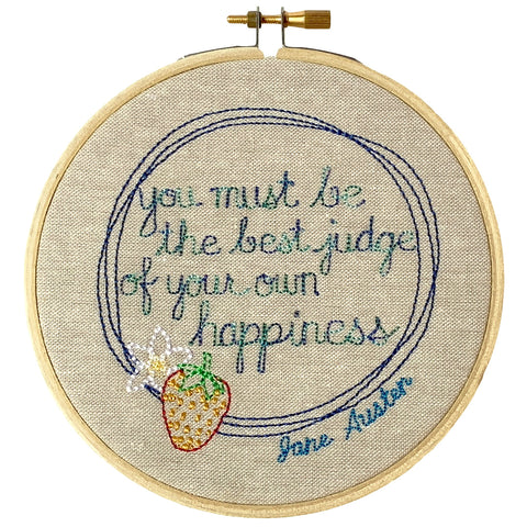 "Jane Austen Hoop – ""You must be the best judge of your own happiness"""