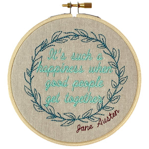 "Jane Austen Hoop – ""It's such a happiness when good people get together"""