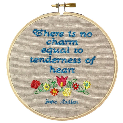 "Jane Austen Hoop – ""There is no charm equal to tenderness of heart"""