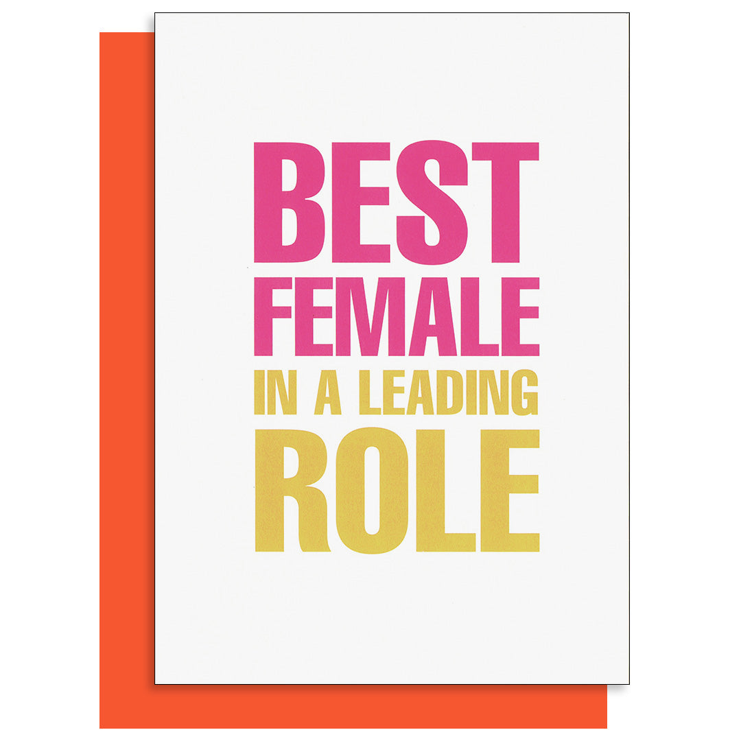 Best Female in a Leading Role Card