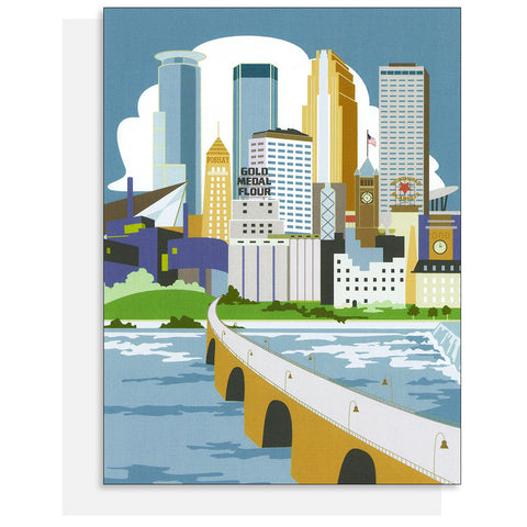 Cindy Lindgren Minneapolis River View Card