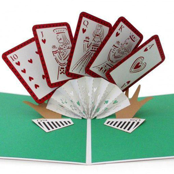 Lovepop 3D Card – Royal Flush