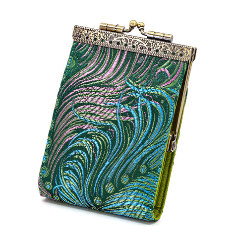 Cathayana Card Holder – Green Peacock