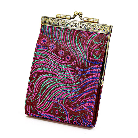 Cathayana Card Holder – Purple Peacock