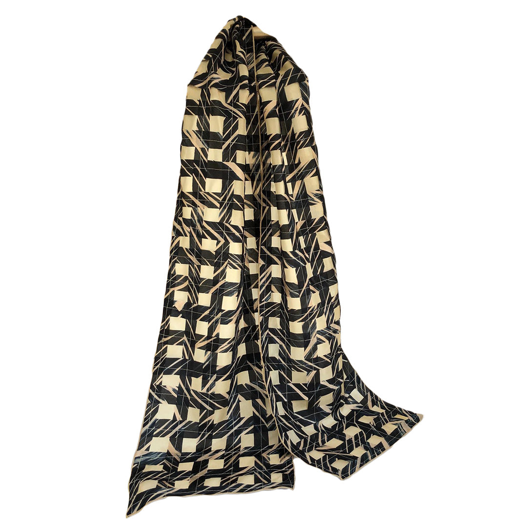 Cathayana Scarf – Black and Gold