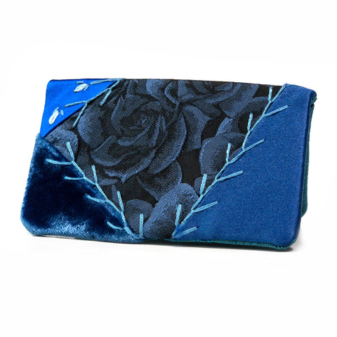 Costume Fabric Card Holder - Blue