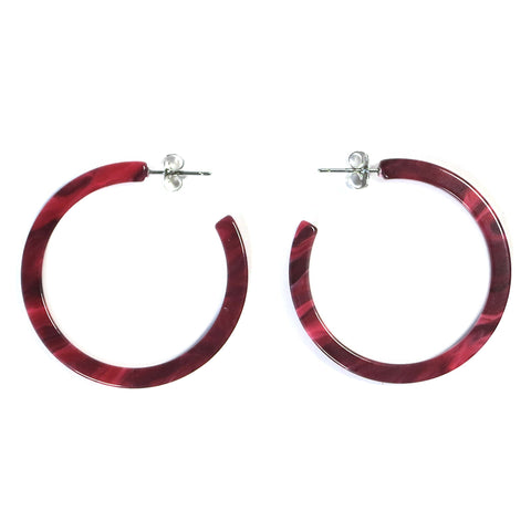 Dear Soho Tortoise Hoop Earrings – Red