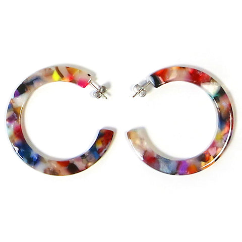 Dear Soho Tortoise Hoop Earrings – Multicolor