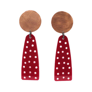 Silvercocoon WE THE PEOPLE Earrings – Red