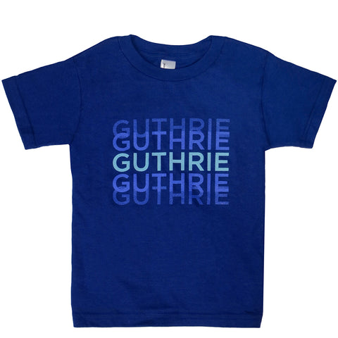Guthrie Triprint Short Sleeve T-Shirt Lapis - Youth