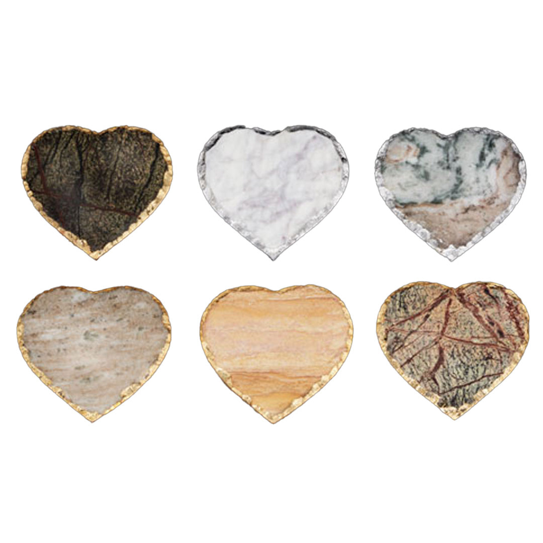 Heart Coasters – Set of 6