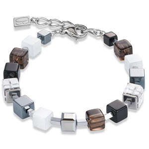 Coeur de Lion GeoCUBE Bracelet – Silver and Quartz