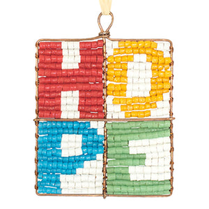Beaded Hope Ornament