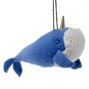 Plush Narwhal Ornament