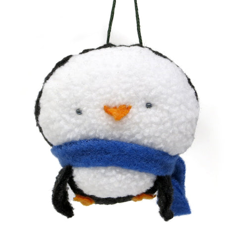 Plush Penguin Ornament
