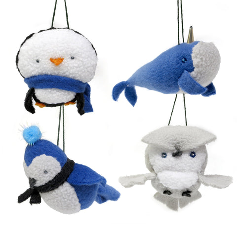 Plush Ornament Collection – Set of 4