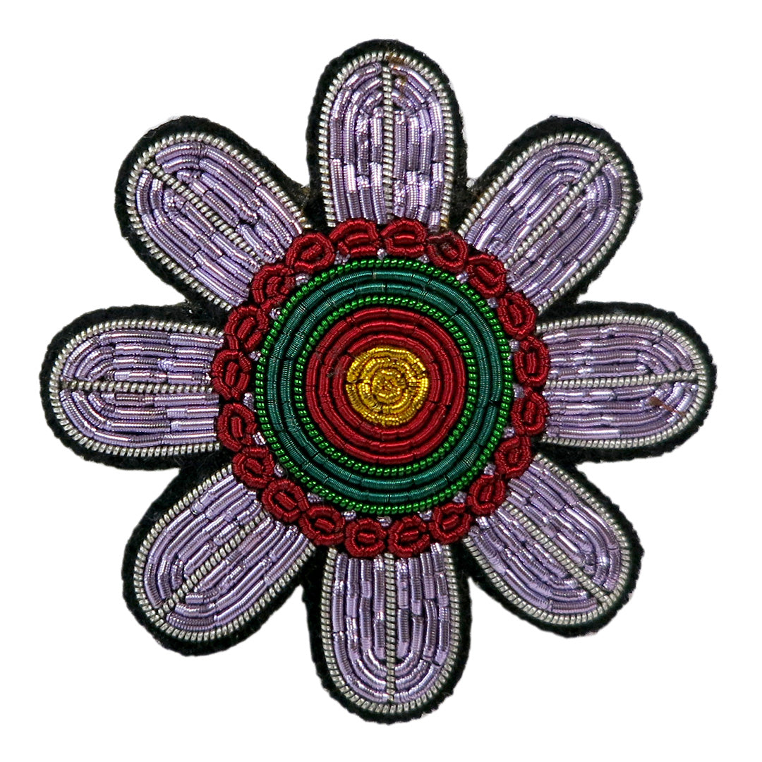 Flower Embroidered Pin