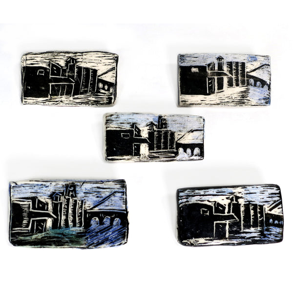 Elaine Woldorsky Porcelain Pin – Guthrie Rectangle