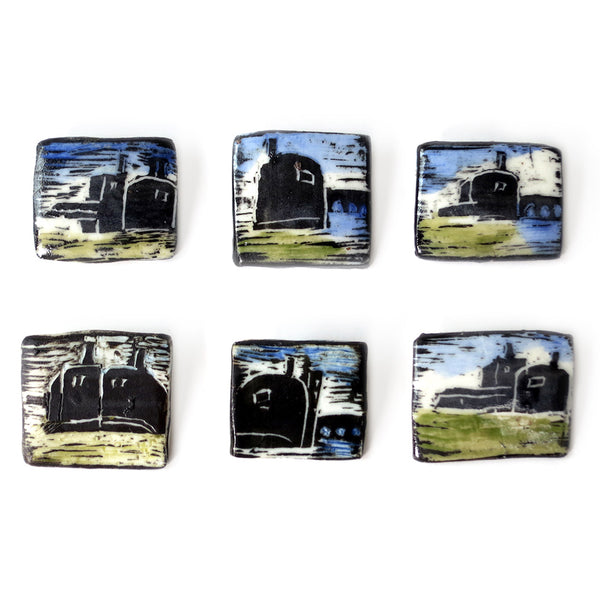 Elaine Woldorsky Porcelain Pin – Guthrie Square