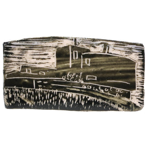 Elaine Woldorsky Porcelain Pin – Guthrie Large Rectangle