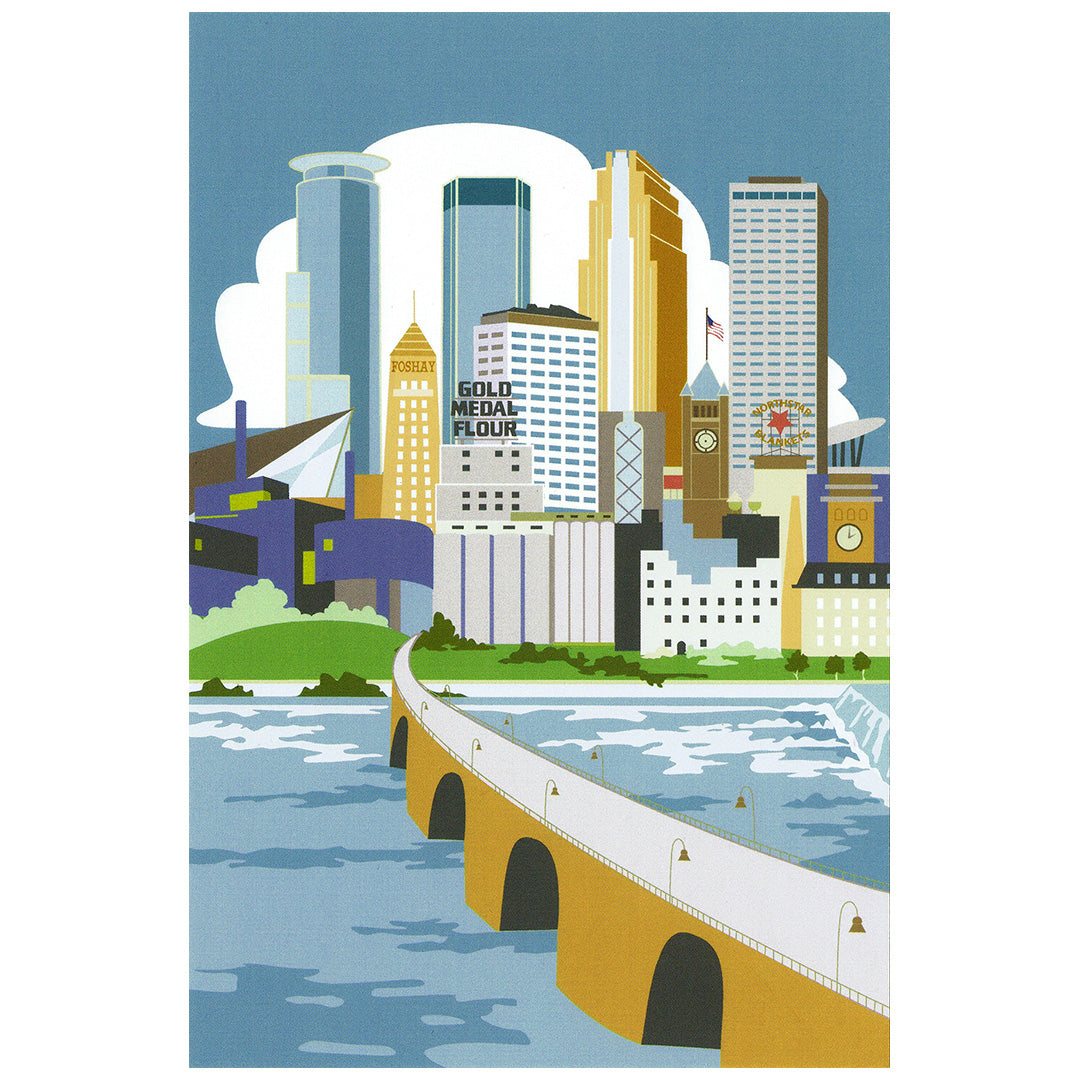 Cindy Lindgren Minneapolis River View Postcard