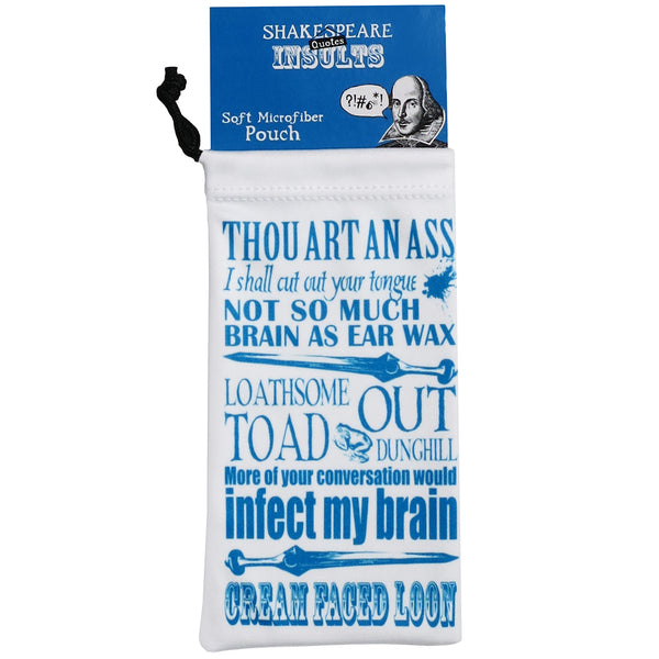 Shakespeare Quotes Insults Soft Microfiber Pouch