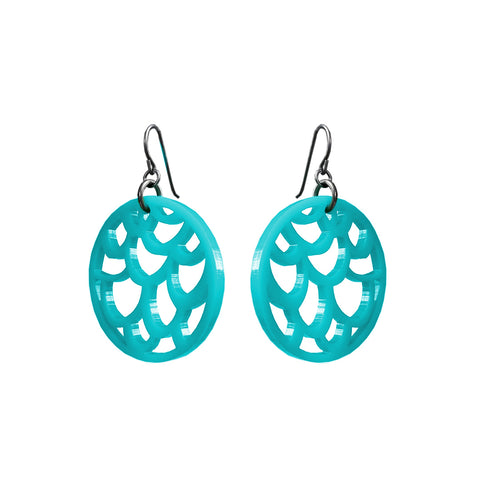 Silvercocoon LACE Earrings – Turquoise